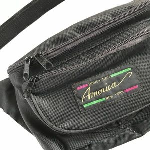 Black Retro Belt Bag
